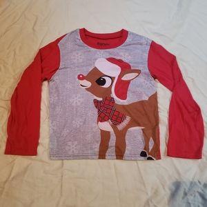 Rudolph Christmas Pajama Top